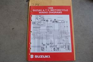 1988 Suzuki Motorcycle  U0026 Atv Wiring Diagrams Manual