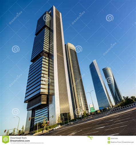 Four Modern Skyscrapers Royalty Free Stock Photo Image