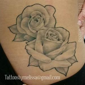 Black and Gray Rose Tattoo | Tattoos by Melissa Ellesar