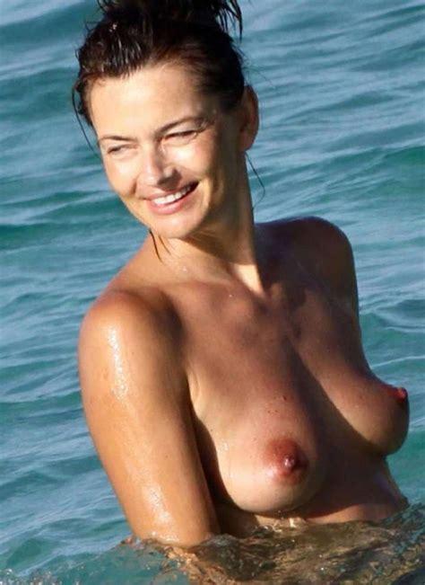 Model Paulina Porizkova Nude Tits On The Beach Scandal Planet
