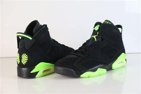 Nike Air Jordan Retro 6 Uo Oregon Black Electrique Green