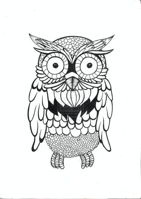 simple owl drawings simple owl by isadorat on deviantart