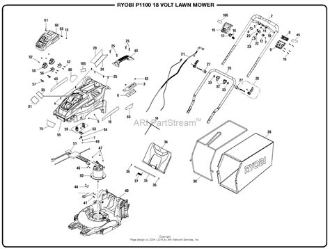 homelite p  volt lawn mower mfg   parts