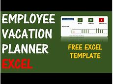 Employee Vacation Planner v1 Free Excel Template YouTube