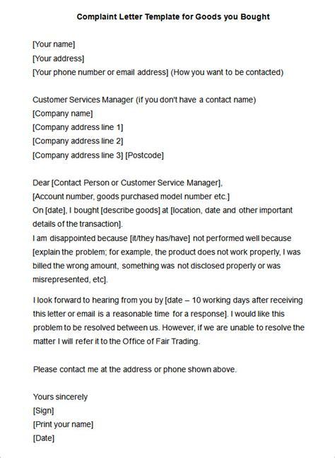 complaint template complaint letter 10 free word pdf format free premium templates