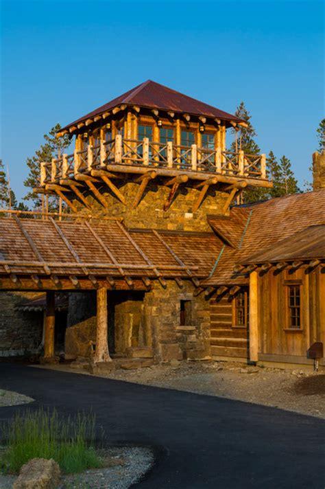 foxtail residence rustic exterior denver  teton heritage builders