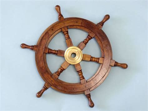 sailboat wheel wall decor wood and brass ship wheel 15 ship s wheels by