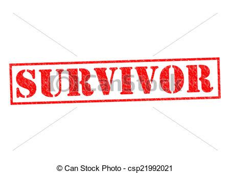 Survivor red rubber stamp over a white background. | CanStock