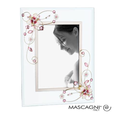 cadre photo en verre avec dcor fleurs pour 1 10x15 mascagni