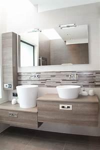 meuble salle de bain avec vasque a poser maison design With salle de bain design avec vasque de couleur salle de bain