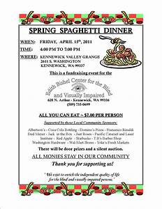 dinner fundraiser april 15 2011 spring spaghetti dinner ...