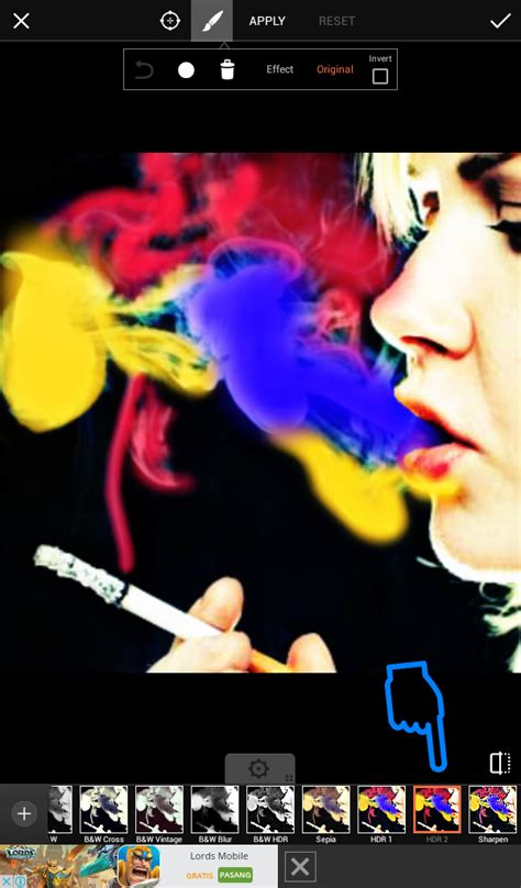 edit foto asap rokok berwarna  picsart