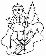 Skiing Coloring Pages Downhill Ski Clipart Colouring Cliparts Skier Printable Sheets Sheet Clip Skiers Print Popular Most Books Printactivities Bible sketch template