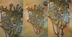 Steampunk heart tattoo | Inkspiration. | Pinterest