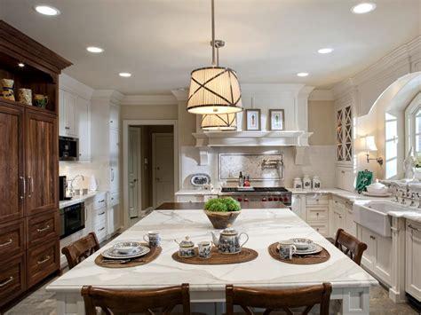 white country kitchen  marble island hgtv