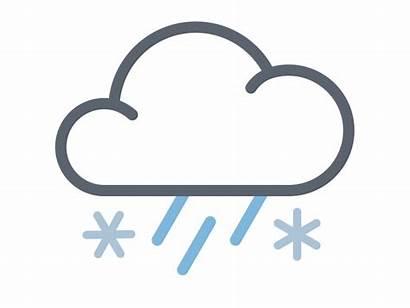 Rain Snow Icon Weather Mix Cloud Animated