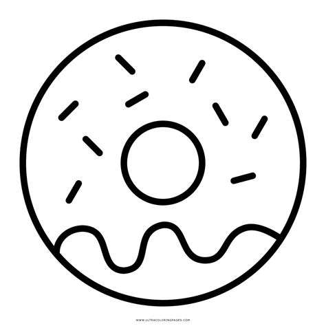 Donut Kleurplaat by Donuts Colouring Pages Sketch Coloring Page