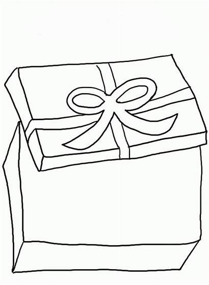 Coloring Gift Ausmalbilder Geschenke Ribbon Colorare Scatole