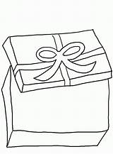 Gift Coloring Boxes Ribbon Drawing Getdrawings Children Popular sketch template