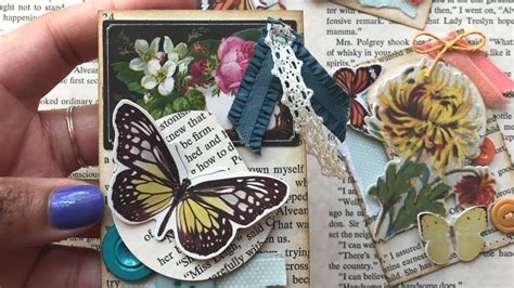 atc cards   book pages diy artist trading card