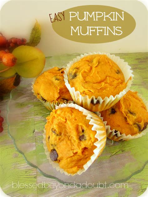 cake mix pumpkin muffin recipe blessed   doubt