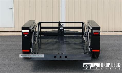 jlg drop deck utility trailer 2016 hgl7610 hydraulic drop deck scissor lift