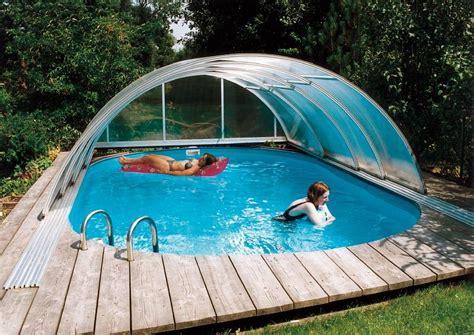 Swimmingpool Für Garten by Schwimmbecken 220 Berdachungen Schiebedach