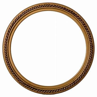 Frame Round Gold Transparent Circle Frames Paint