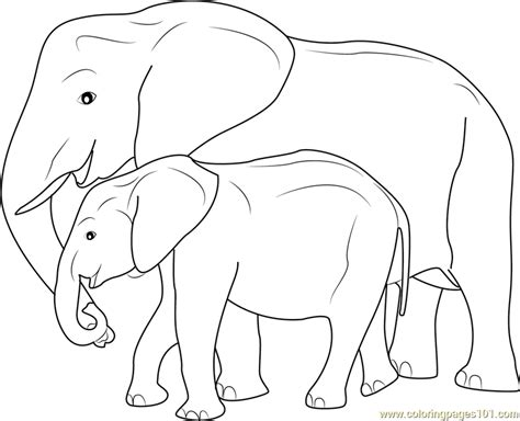 mother  baby elephant coloring page  elephant