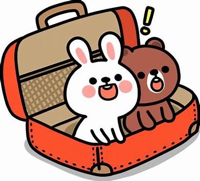 Travel Kawaii Clipart Cartoon Suitcase Travelling Luggage