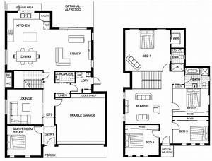Exciting Two Story Floor Plan New In Home Plans Model Sofa