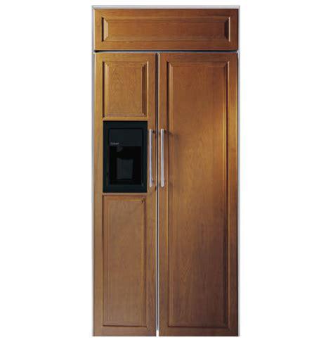 ge monogram custom panel trim kit   built  refrigerators zkt ge appliances