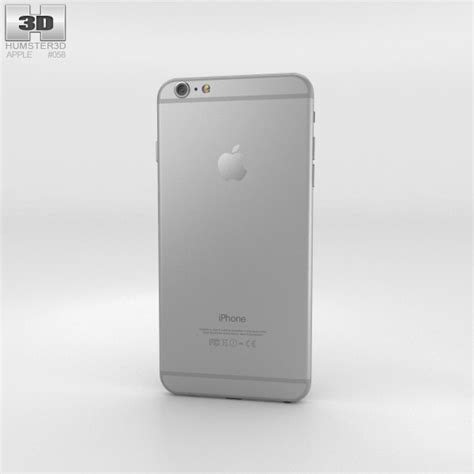 silver iphone 6 plus apple iphone 6 plus silver 3d model humster3d