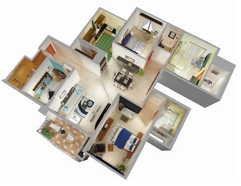 25 Three Bedroom HouseApartment Floor Plans