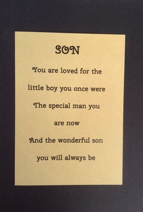 card  grown  son special sons birthday