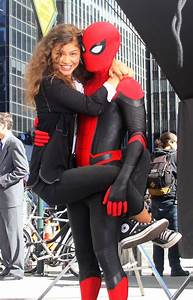 Zendaya, At, The, Spider-man, Far, From, Home, Movie, Set, Outside, The, Penn, Station, Manhattan