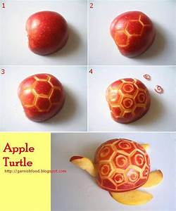how to carve apple turtle | ~ Food - Decorative Carving ...