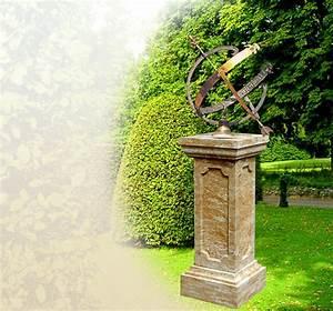 antike sonnenuhren fur den garten aus stein und bronze With französischer balkon mit garten sonnenuhr