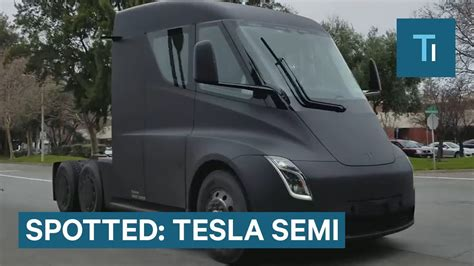 tesla semi  spotted   public road heres