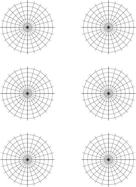 polar graph paper   formtemplate