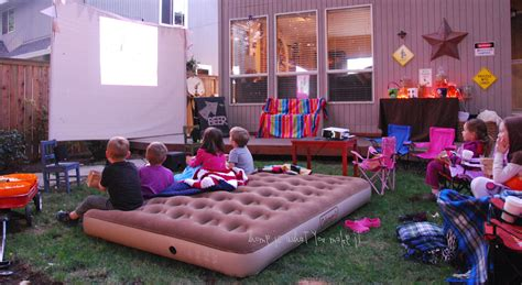 Fall Backyard Movie Night