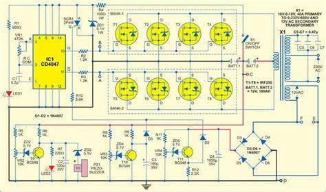 Circuit Diagram Of 600va Inverter by Sine Wave Inverter Circuitos Sine Wave Circuit Design