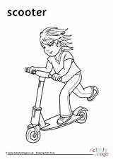 Colouring Scooter Pages Coloring Transport Scooting Activity Motorhome Getdrawings Become Member Word Log Activityvillage sketch template