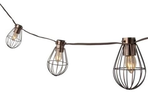 smith hawken caged lantern string light industrial