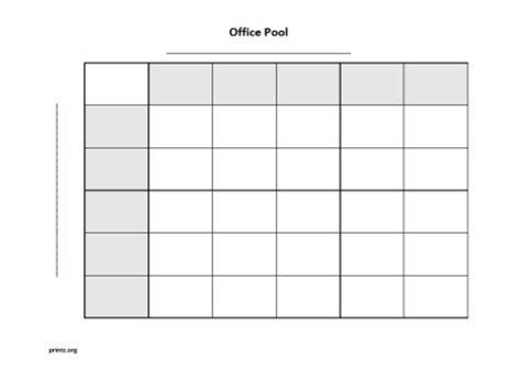 Www Free Office Football Pool by Office Pool 25 Squares