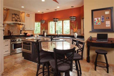 orange kitchen island 10 beautiful kitchens with orange walls 1219