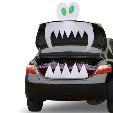 trunk or treat decorating kits tricky trunks car kit fabric decoration scary