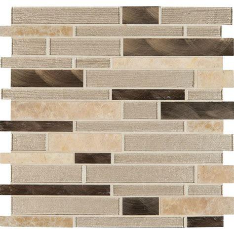 home depot mosaic tile ms international chagne toast interlocking 12 in x 12