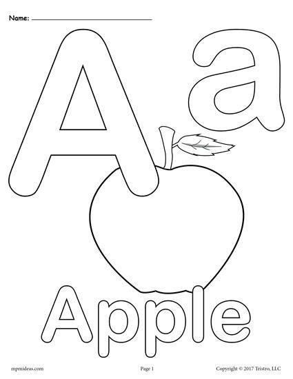 letter  alphabet coloring pages   printable