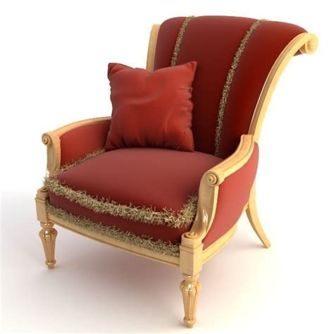 Armchair Pillow by Armchair With Pillow 3d Model Max Obj 3ds
